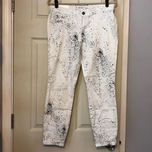Calvin Klein paint splatter jeans